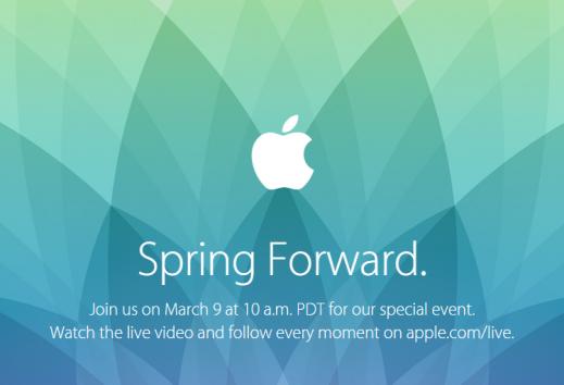 Spring Forward: l'evento Apple del 9 marzo