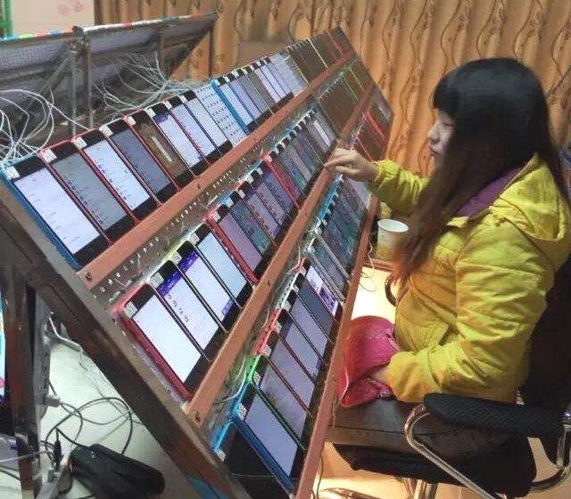 Cina: una foto mostrerebbe come vengono gonfiate alcune classifiche su App Store