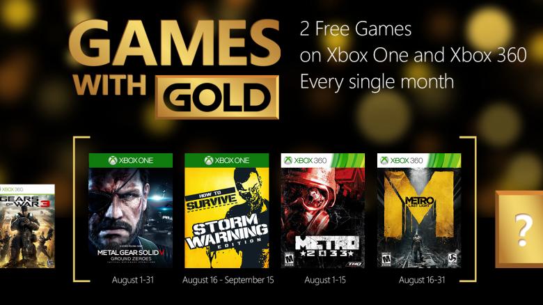 Svelati i Games with Gold di Agosto e Deals with Gold 28/07