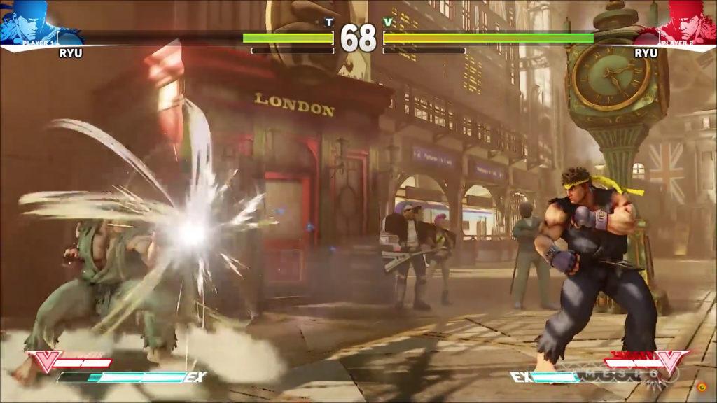 Street Fighter V parry