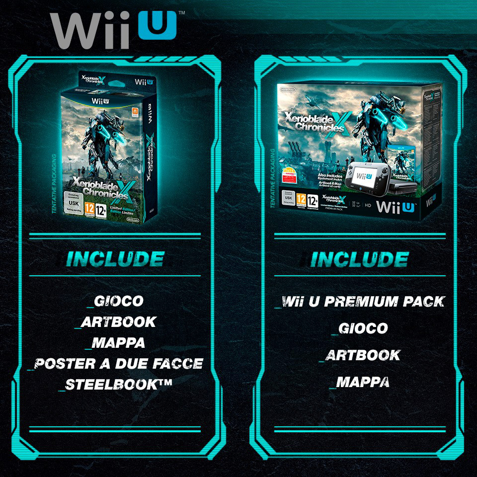 release di Xenoblade Chronicles X - Limited bundle