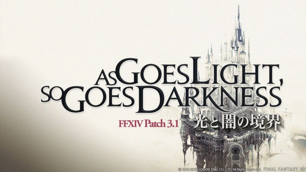 As Goes Light, So Goes Darkness Final Fantasy XIV