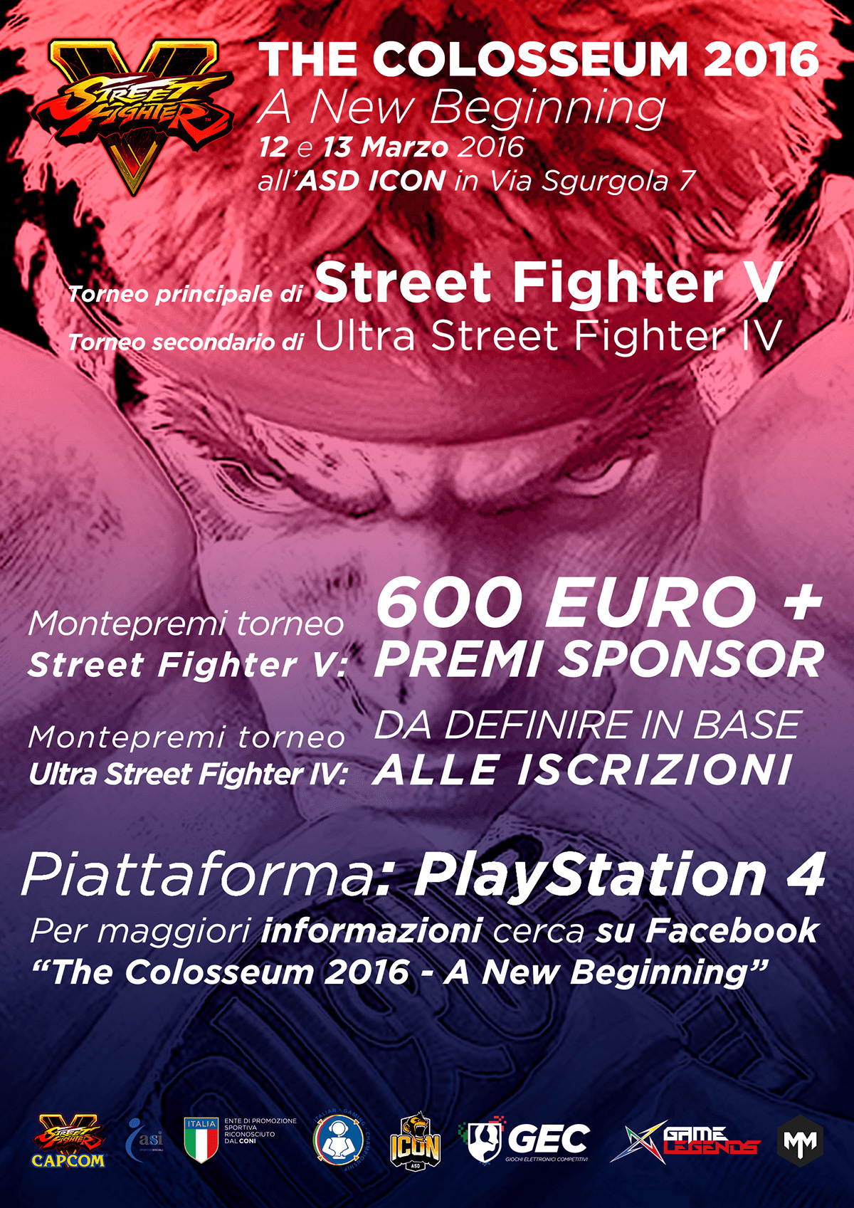 The Colosseum 2016 - A New Beginning - primo torneo italiano di Street Fighter V