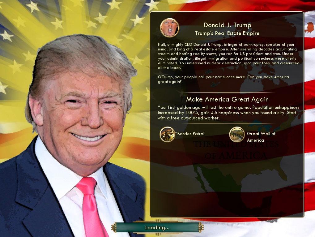 Civilization V mod Trump