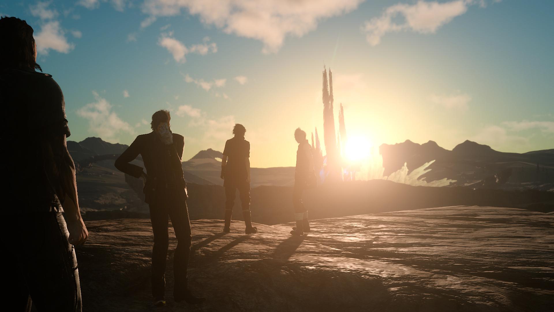 Final Fantasy XV sunset