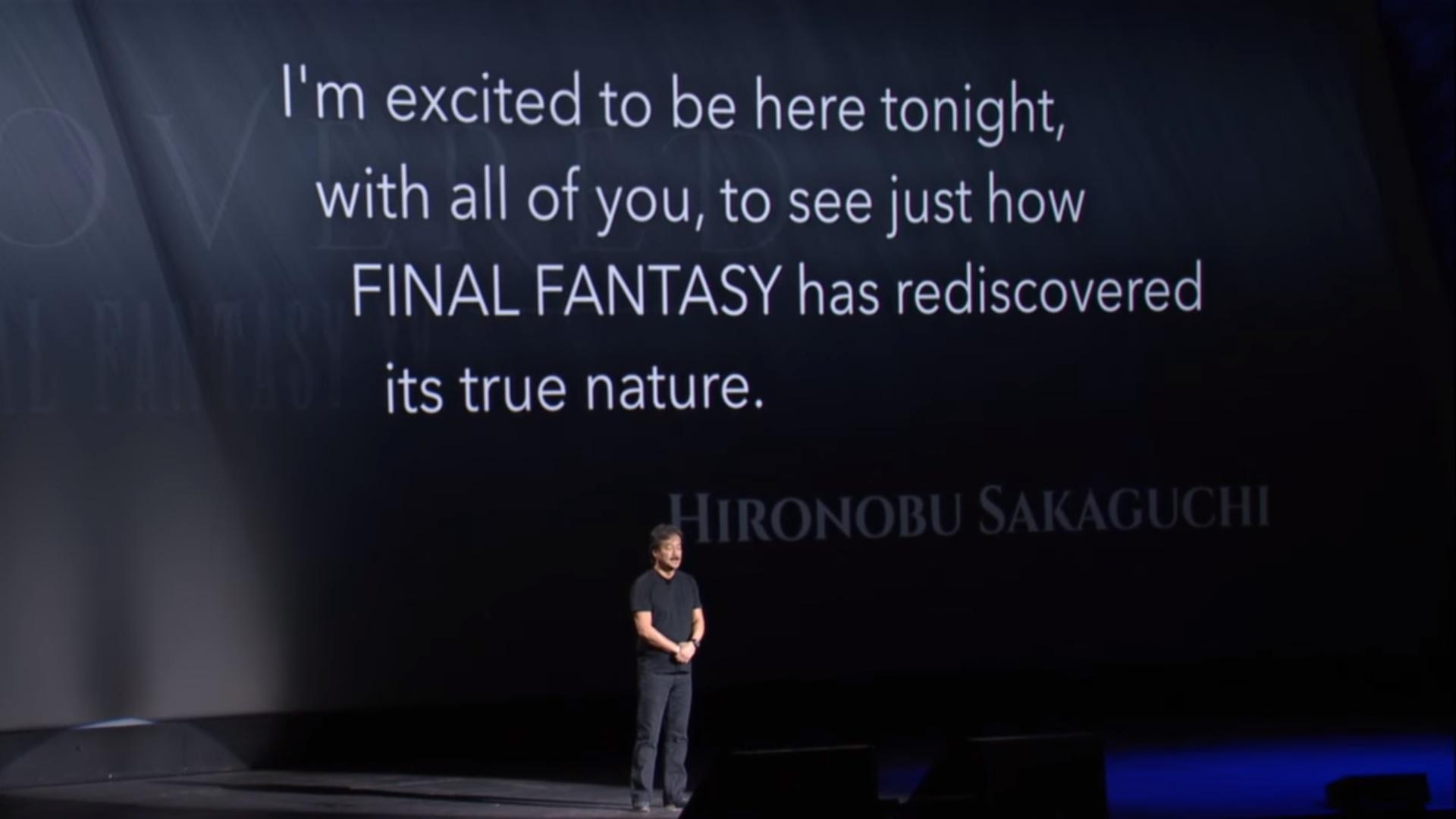 Hironobu Sakaguchi Final Fantasy XV