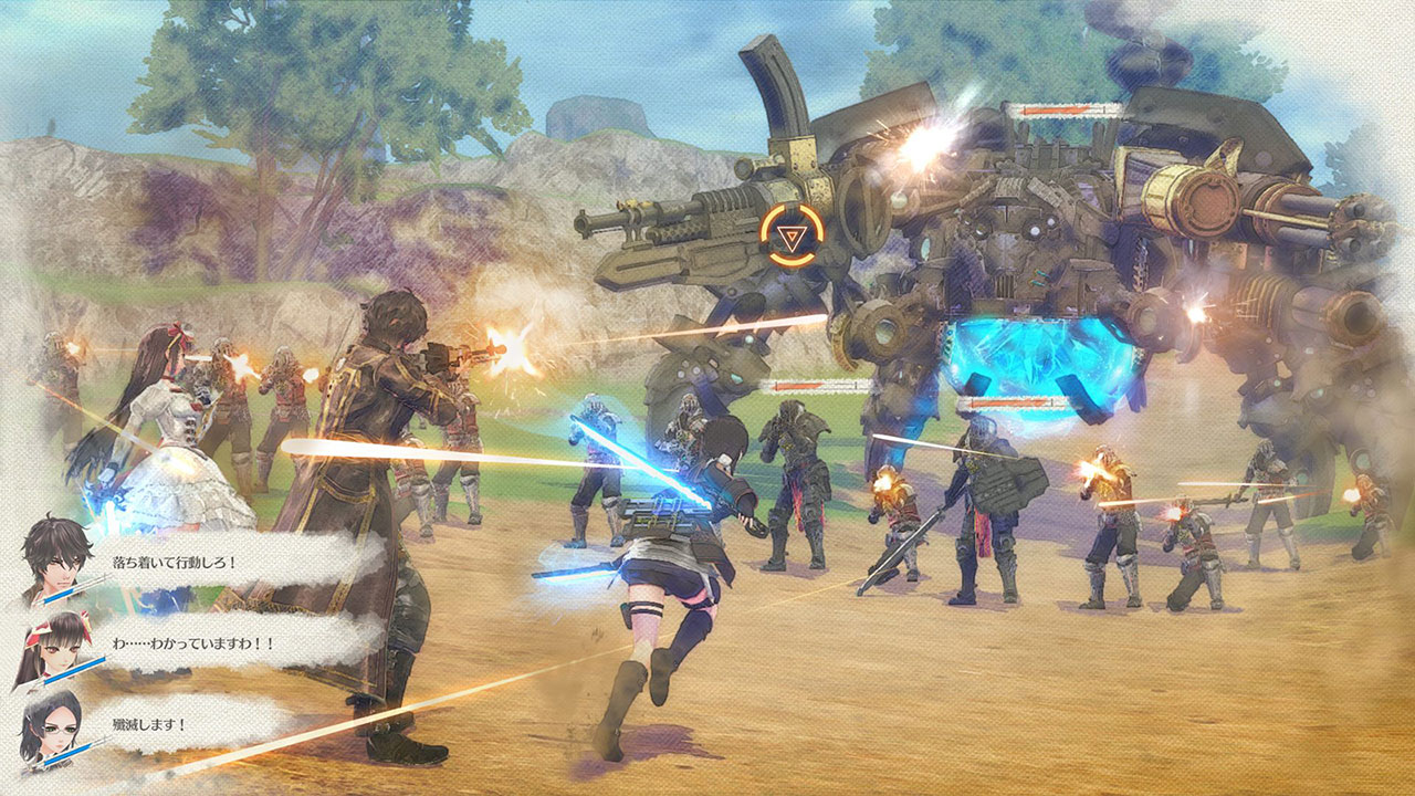 Valkyria Azure Revolution gameplay01