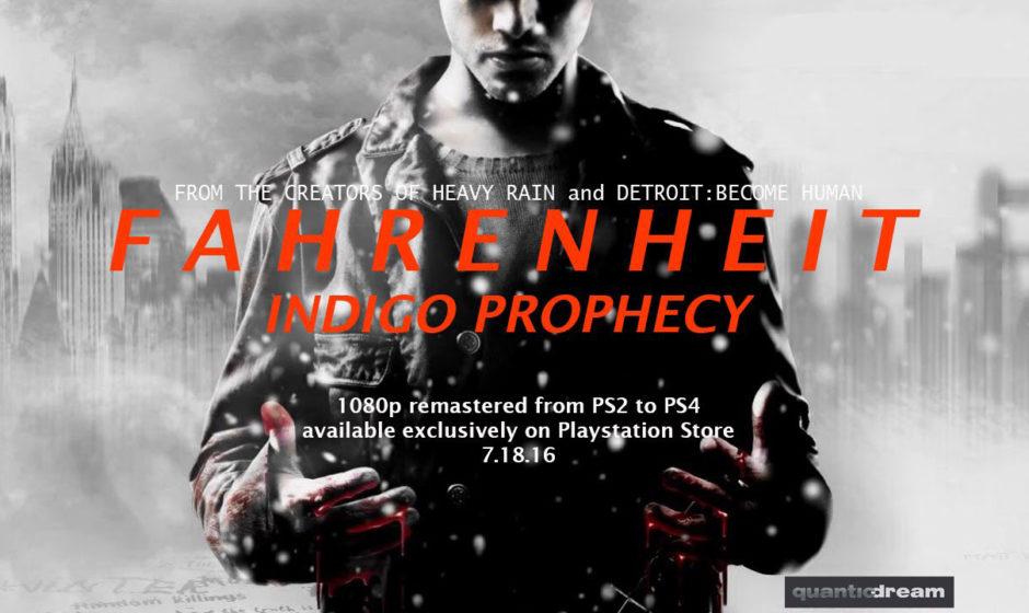 Fahrenheit: Indigo Prophecy in arrivo su PS4