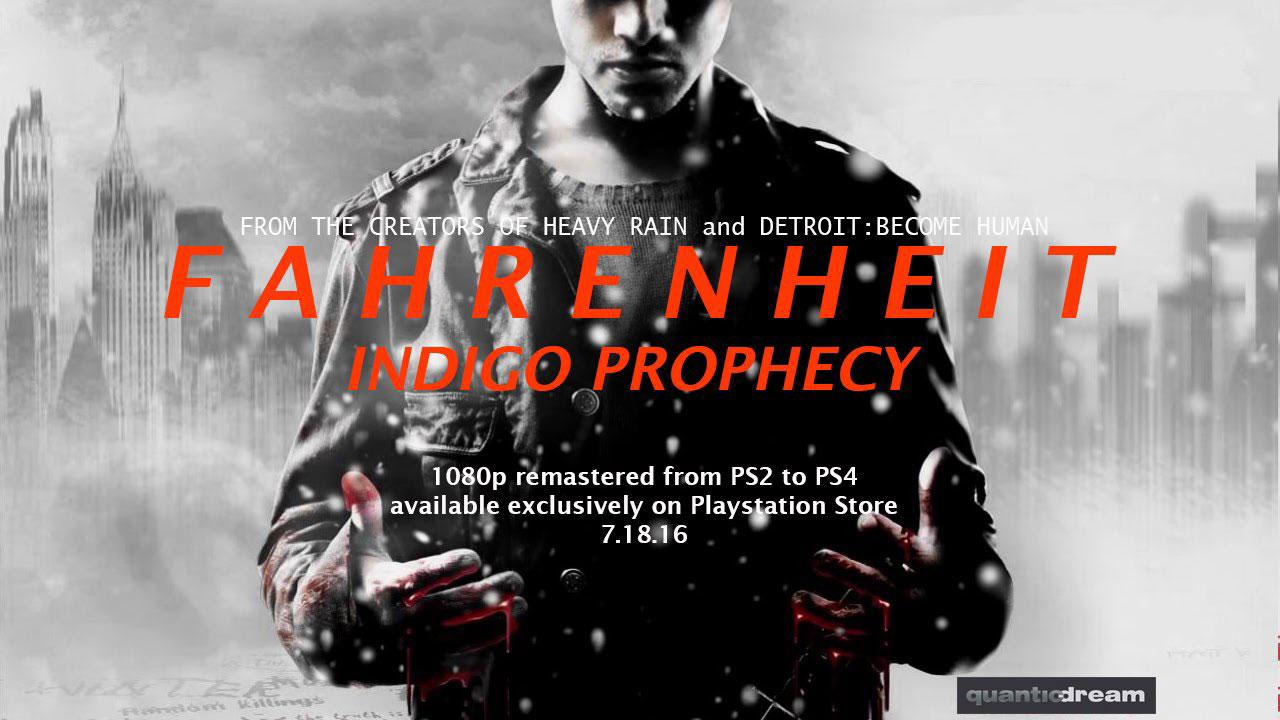 Fahrenheit Indigo Prophecy PS4