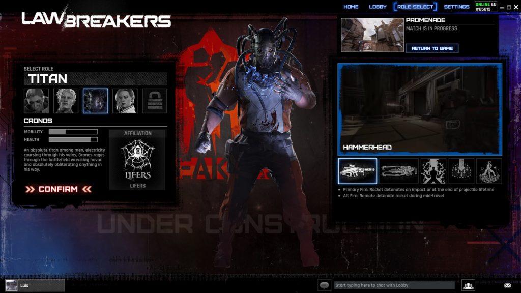 Lawbreakers Alpha