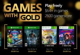Annunciati i Games with Gold di Novembre