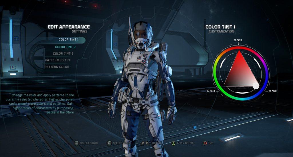Armatura in Mass Effect Andromeda