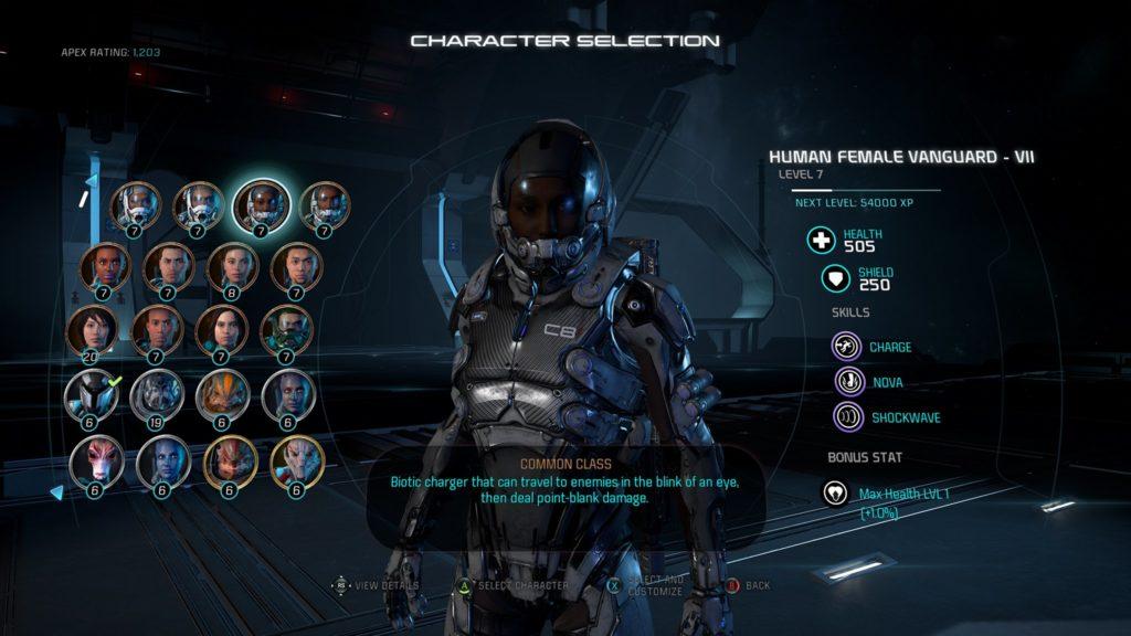 addestramento Mass Effect Andromeda