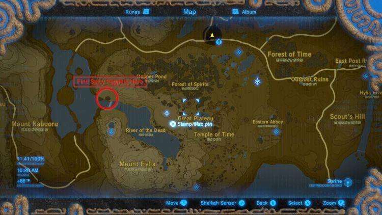 Come sopravvivere al caldo in The Legend of Zelda: Breath of the Wild