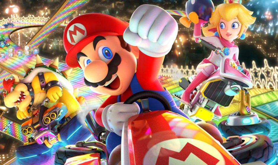 In America si gioca a Mario Kart sullo schermo gigante di uno stadio da baseball