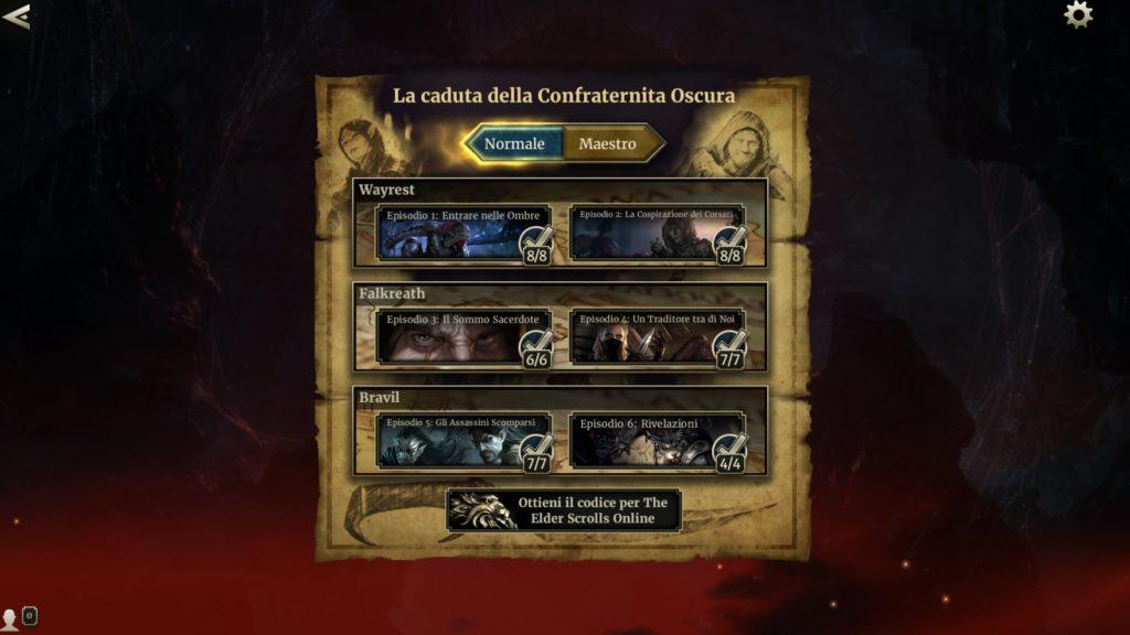 The Elder Scrolls: Legends - La Caduta della Confraternita Oscura