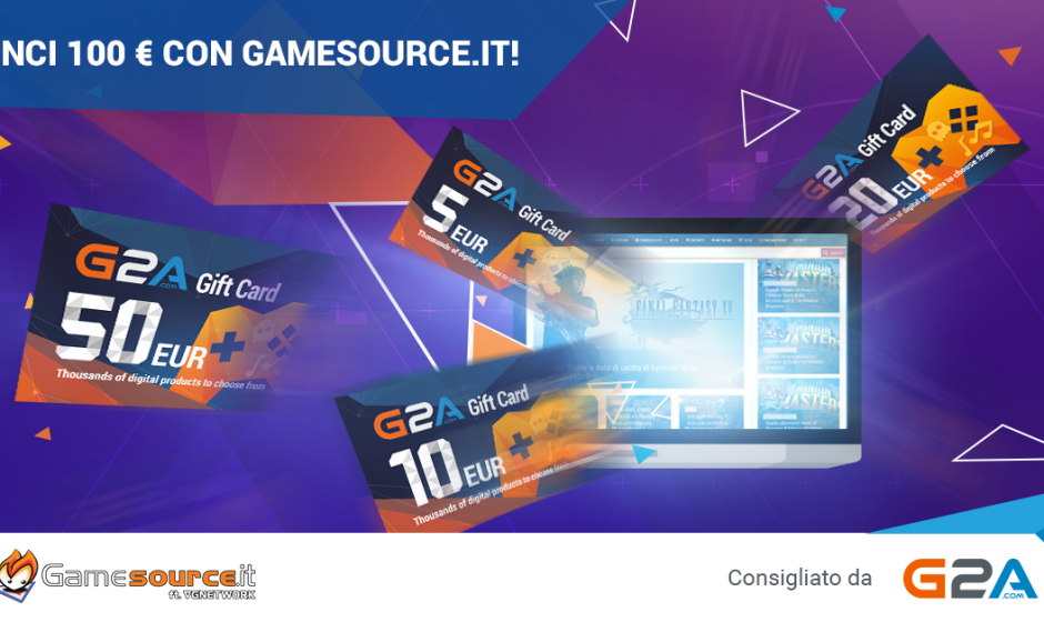 Contest: Vinci 100 Euro di GiftCard G2A