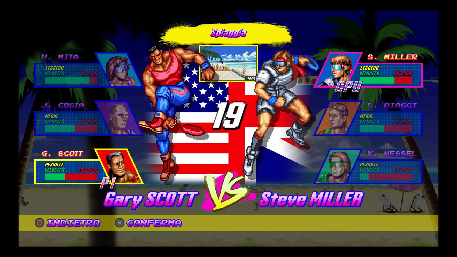 Windjammers Recensione roster