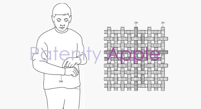 apple brevetto tessuto smart