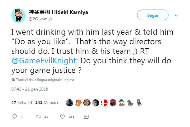 Hideki Kamiya ottimista su Resident Evil 2 Remake