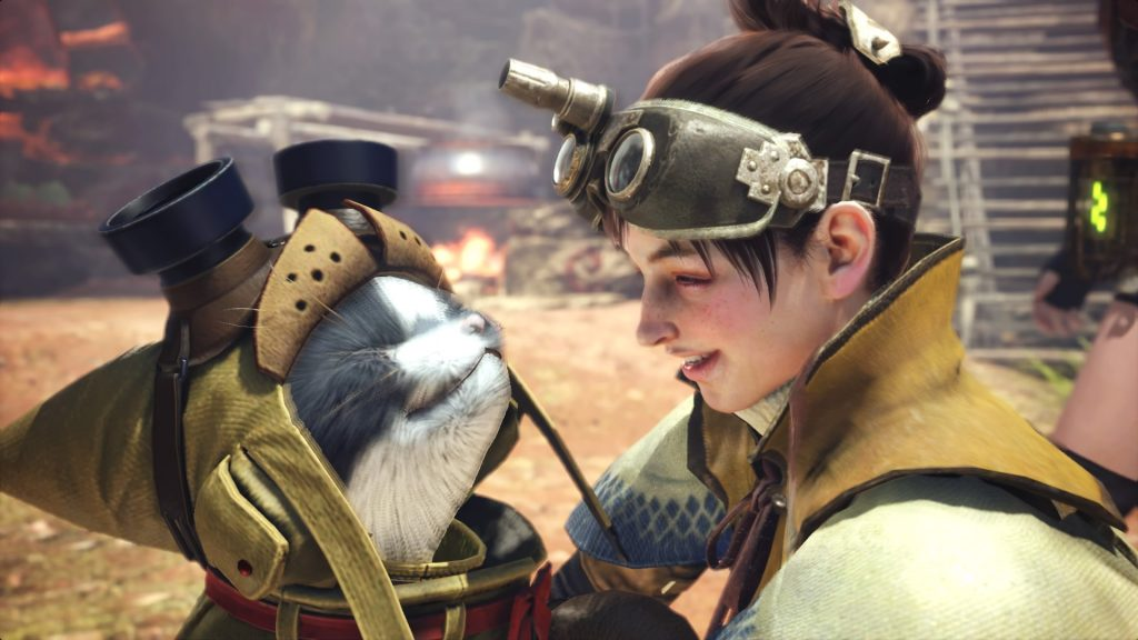 Gadget del Felyne in Monster Hunter World