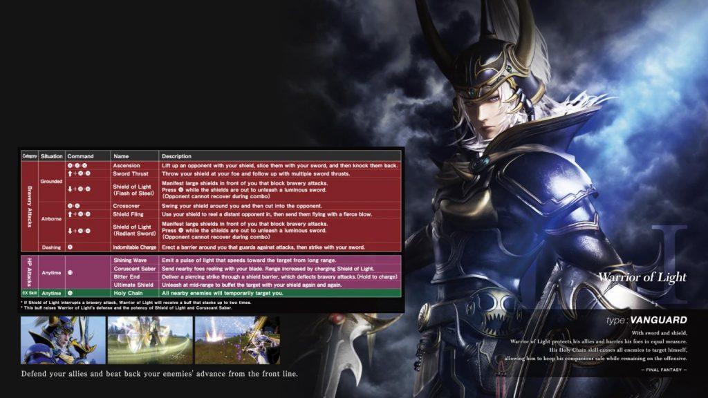 dissidia nt abilità ex eroi