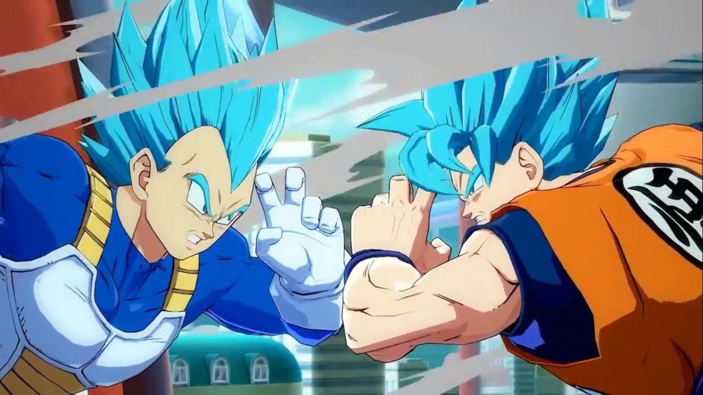 Dragon Ball FighterZ SSGSS Goku Vegeta