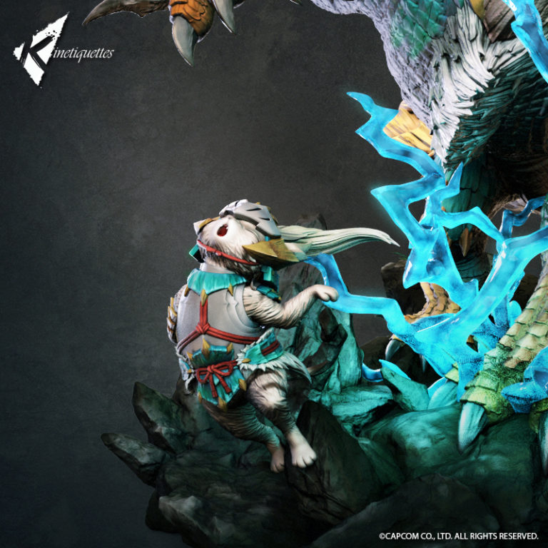 Monster hunter statue