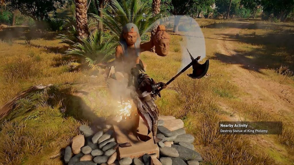 assassin's creed: origins statue di tolomeo