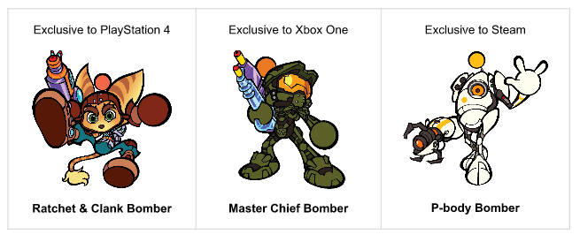 Super bomberman nuovi personaggi consoles