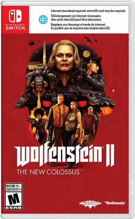 wolfenstein ii the new colossus nintendo switch cover