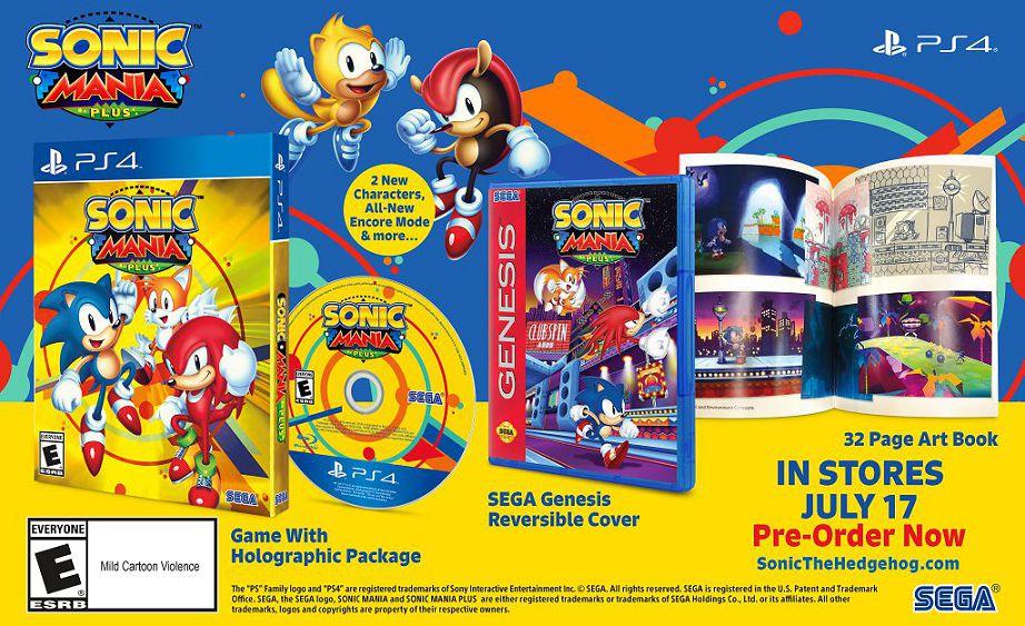 Sonic mania Plus 17 luglio
