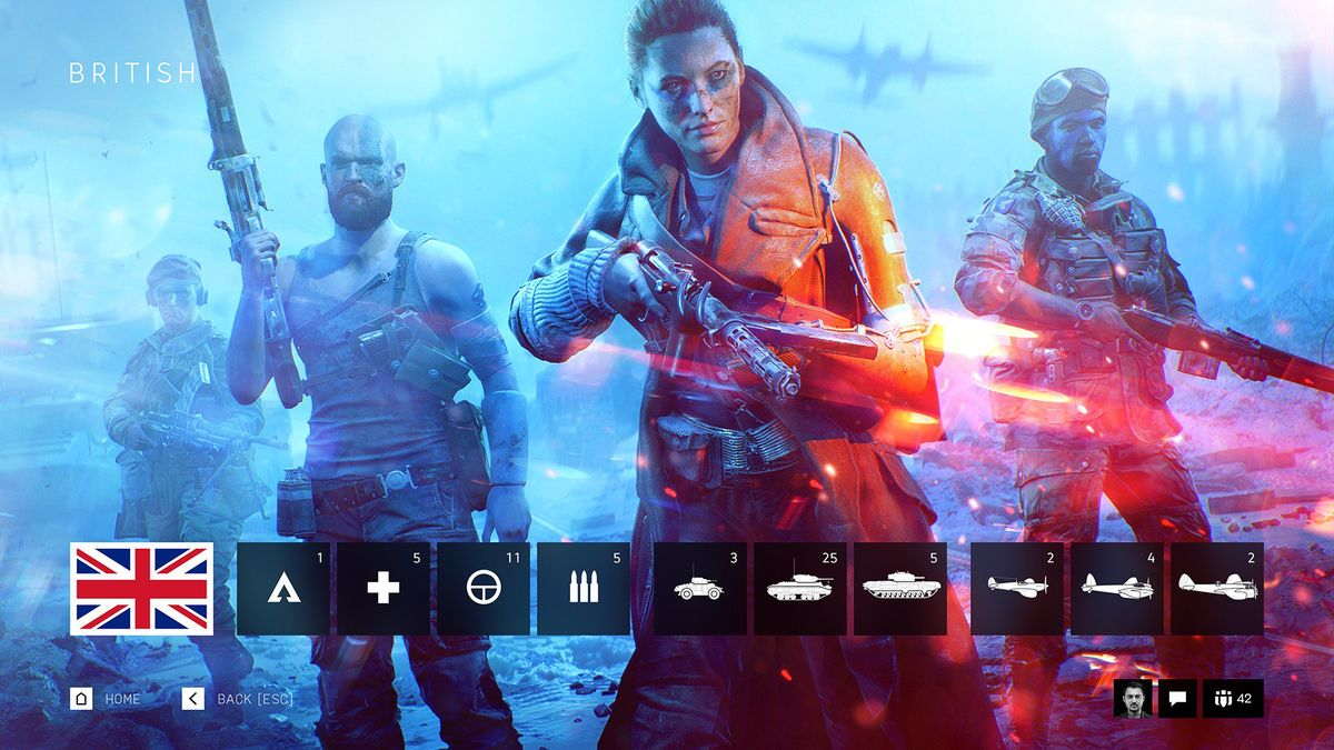 Battlefield V multiplayer guida classi