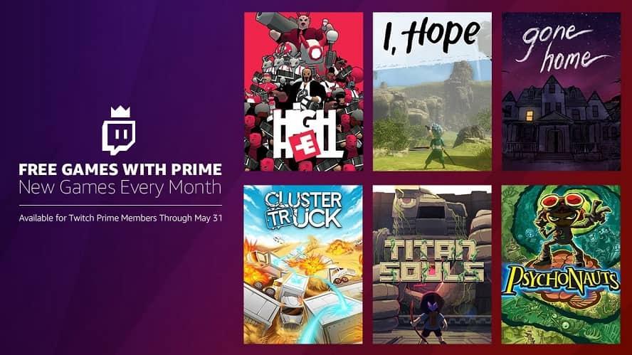 Twich Prime: i giochi gratuiti di Maggio