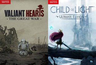 Child of Light e Valiant Hearts in arrivo su Nintendo Switch