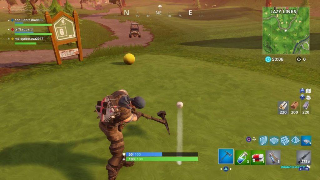 Fortnite Sfida golf