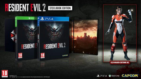 Resident Evil 2 Remake Steelbook