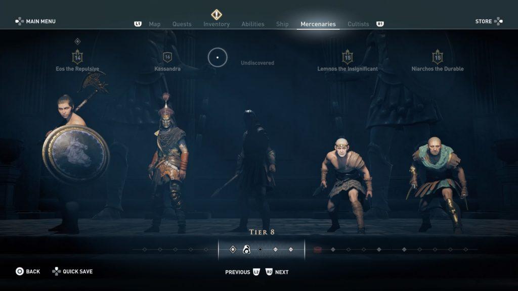 assassin creed odyssey mercenari