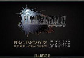 Broadcast relativo a Final Fantasy XV il 7 Novembre