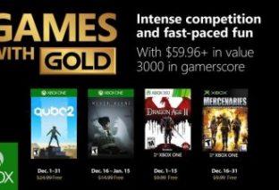 Il natale di Microsoft: Games With Gold Dicembre 2018