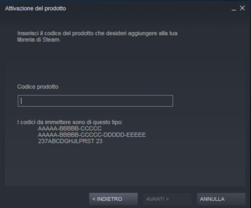 Come riscattare un codice su Steam