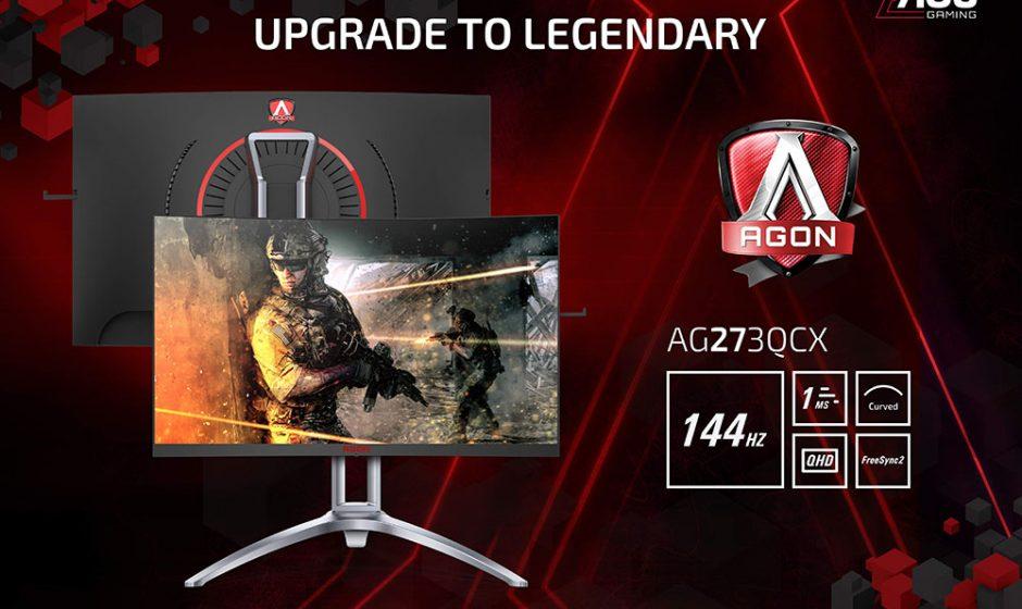 AOC AGON3, la nuova serie di monitor curvi super veloci per il gaming