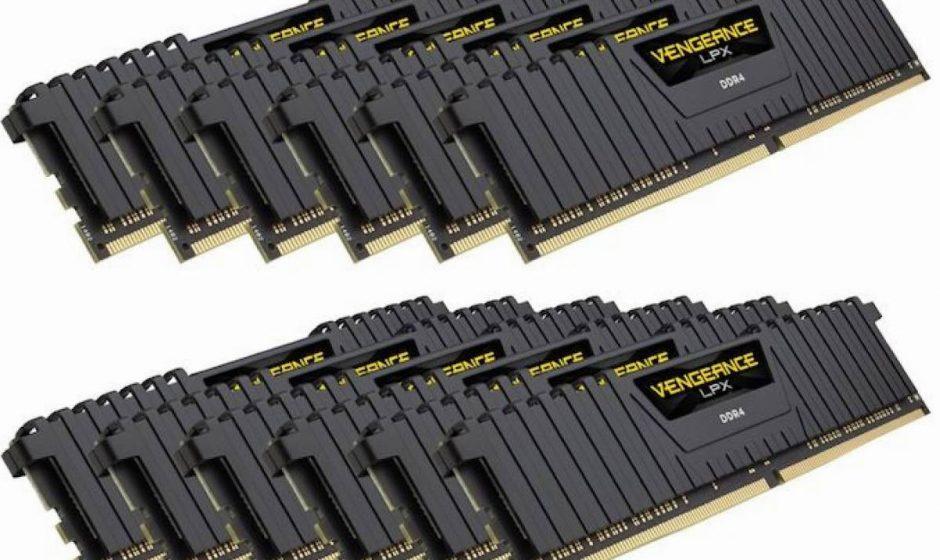 Corsair presenta cinque kit di memoria Vengeance LPX DDR4 a 12 moduli per W-3175X