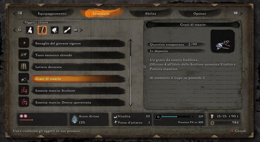 Sekiro: Shadows Die Twice - Come aumentare Vitalità e Postura Massime
