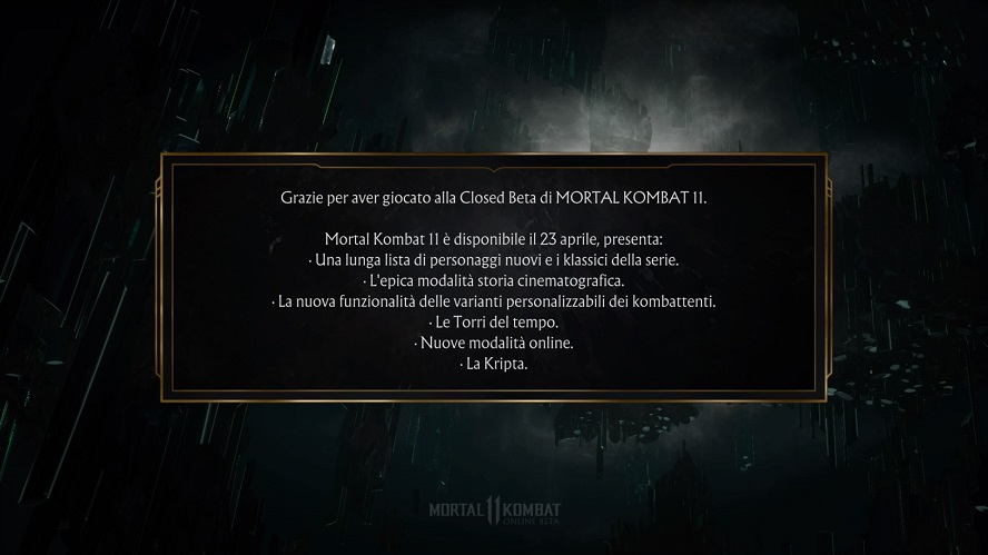 Mortal Kombat 11 Closed Beta