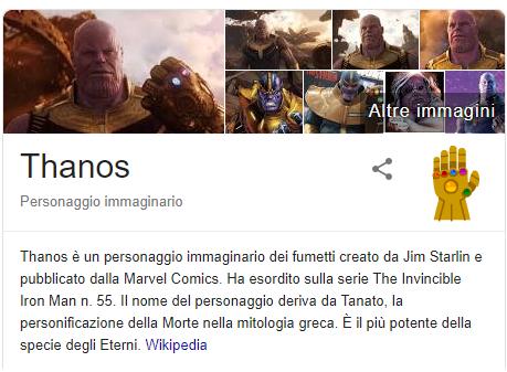 Thanos Google Avengers Endgame