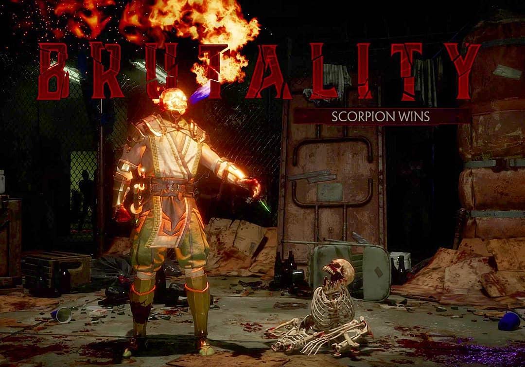Mortal Kombat 11 Brutality Scorpion