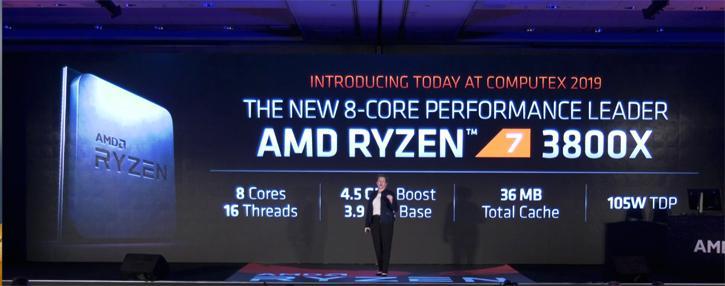 AMD Ryzen 3800x annuncio