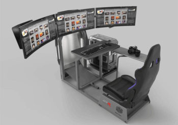 Collaborazione CoolerMaster GTR Simulator in vista