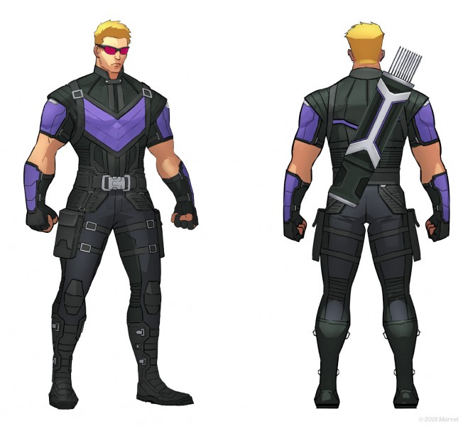 Hawkeye modello in Marvel Ultimate Alliance 3